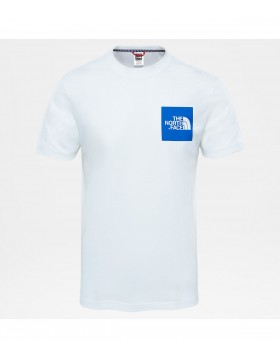 The North Face SHORT SLEEVE FINE TEE White/Blue
