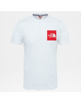 The North Face SHORT SLEEVE FINE TEE White/Red