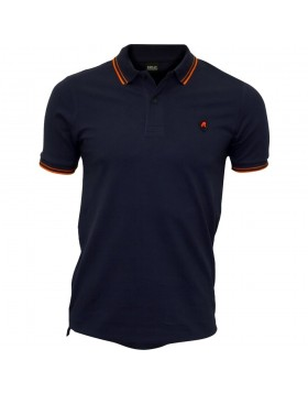 Replay Contrast Polo Shirt Navy