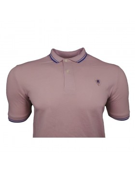 Replay SS Tipped Polo Pink