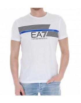 EA7 Big Stripe Logo T-Shirt - White