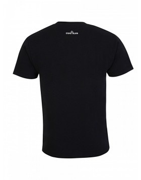 Stone Island Black Branded Logo T-Shirt