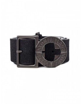 Stone Island Black Logo Belt