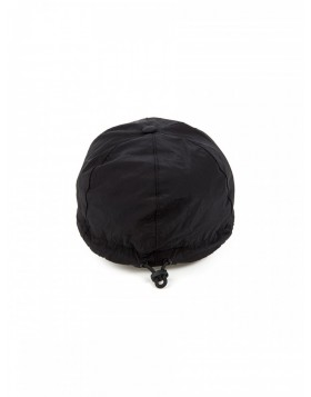 Stone Island Black Metallic Compass Nylon Baseball Cap