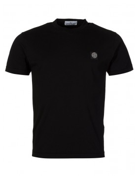 Stone Island Black Patch Logo T-Shirt