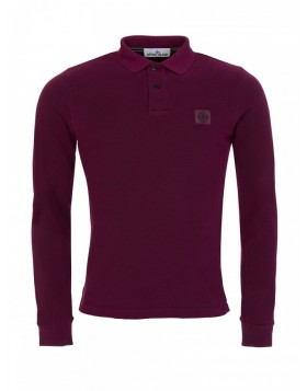 Stone Island Burgundy Slim Polo Shirt
