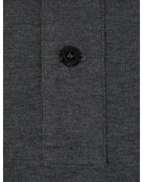 Stone Island Charcoal Slim Tipped Edge Polo Shirt