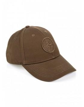 Stone Island Khaki Logo Cotton Baseball Cap