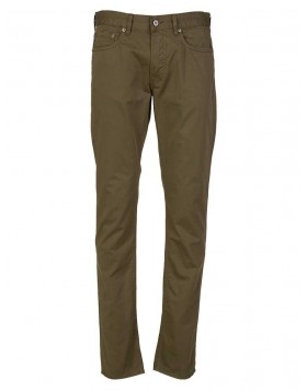 Stone Island Khaki Slim Fit Badge Chino Trousers