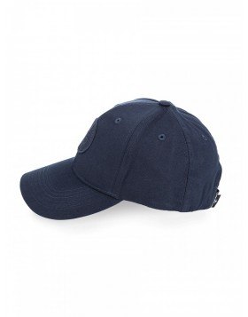 Stone Island Navy Logo Cotton Baseball Cap