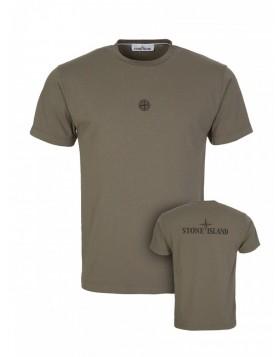Stone Island Olive Back Logo T-Shirt
