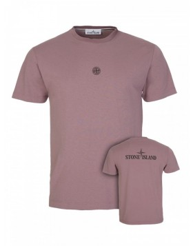 Stone Island Pink Logo T-Shirt