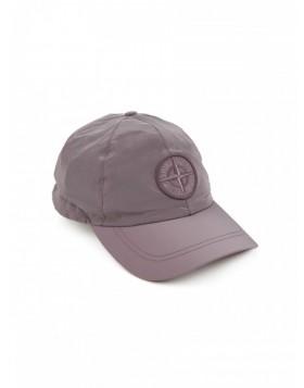Stone Island Pink Metallic Compass Nylon Baseball Cap