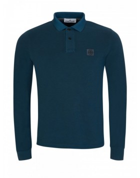 Stone Island Washed Blue Polo Shirt