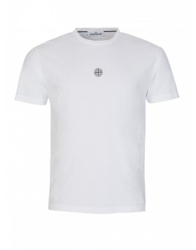 Stone Island White Logo T-Shirt