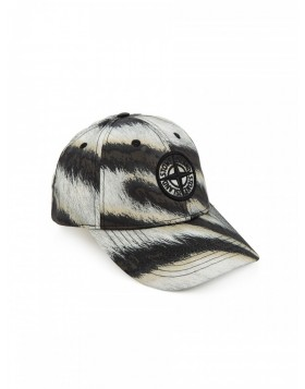 Stone Island White Tiger Camouflage Baseball Cap