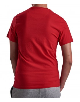 Barbour International Block Tee Vibrant Red