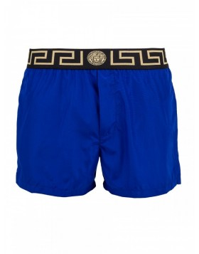 Versace Beachwear Royal Blue Grecian Swim Shorts
