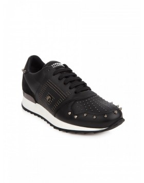 Versace Collection Black Spiked Stud Sneakers