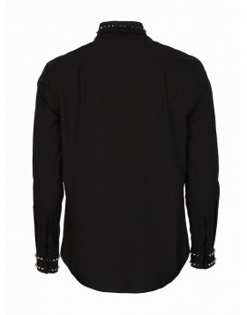 Versace Collection Black Stud Collar Shirt