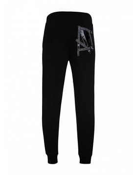 Versace Collection Black Tape Sweatpants