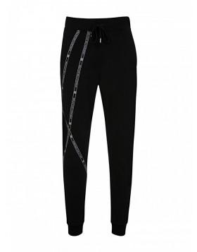 Versace Collection Black Tape Sweatpants