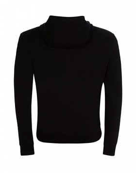 Versace Collection Black Tape Zip Hoodie