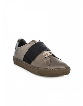 Versace Collection Olive Green Velcro Strap Trainers