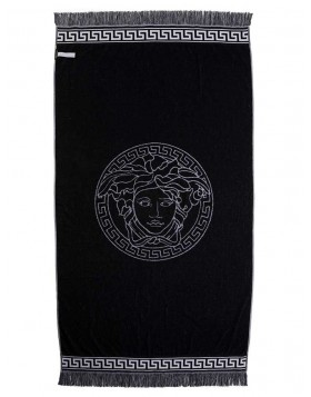 Versace White Medusa Beach Towel